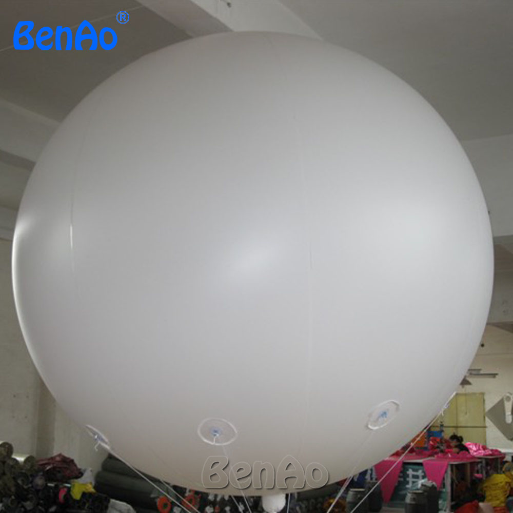 AO058B  2M white PVC helium balioon,inflatable sphere/sky balloon for sale, attractive inflatable funny helium printing air ball inflatable helium balloon