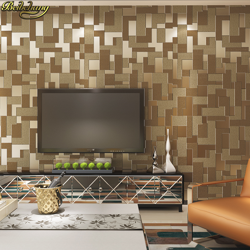 beibehang Modern minimalist Mosaic Lattice Deer skin papel de parede 3D Wall paper Embossed Living room wallpaper for walls 3 d large flower blossom floral 3d room modern wallpaper for walls 3d livingroom wall paper mural rolls household papel de parede