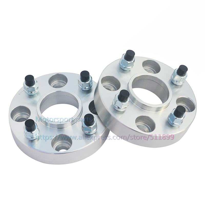 2pcs lot PCD 4x108 CB 63 4mm Thickness 20mm 7075T6 Aluminum Car Wheel Spacer For