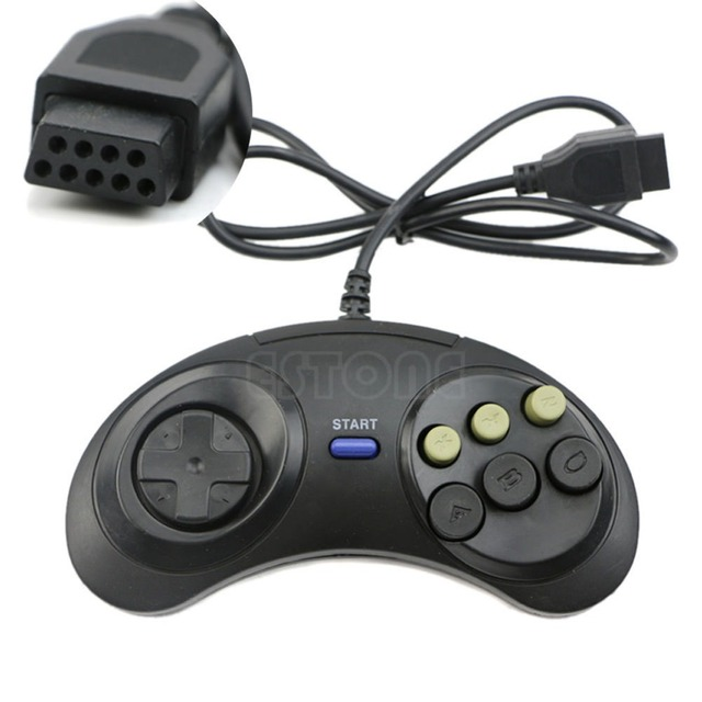 6 przycisk przewodowy Pad gamepad dla Mega Drive Megadrive Sega MD (rodzaju