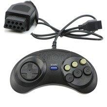 Contrôleur de manette de protection filaire à 6 boutons pour Mega Drive Megadrive Sega MD Genesis
