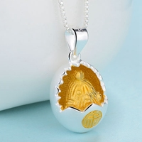 925 Sterling Silver Jewelry Golden Rooster Shell Pendant Necklaces For Women Sterling Silver Jewelry Mother Day