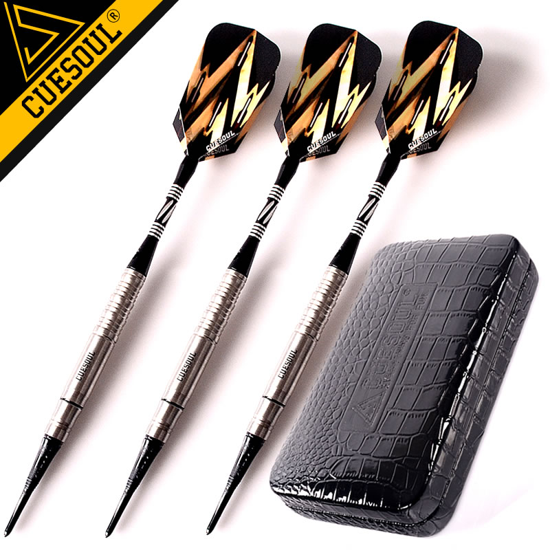 12.12  Sales CUESOUL Soft Tip Tungsten Darts 18g Electronic Dart With Aluminum Darts Shafts  wmg08580 professional 18 soft tip electronic voice dartboard with 6 dart black multicolor