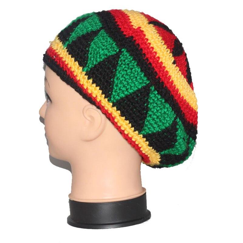 Handmade Knitting Cotton Autumn Fall Winter Wheat Women Men Beret Jamaican Beret Cap Hat for Women Men Halloween Christmas Gift