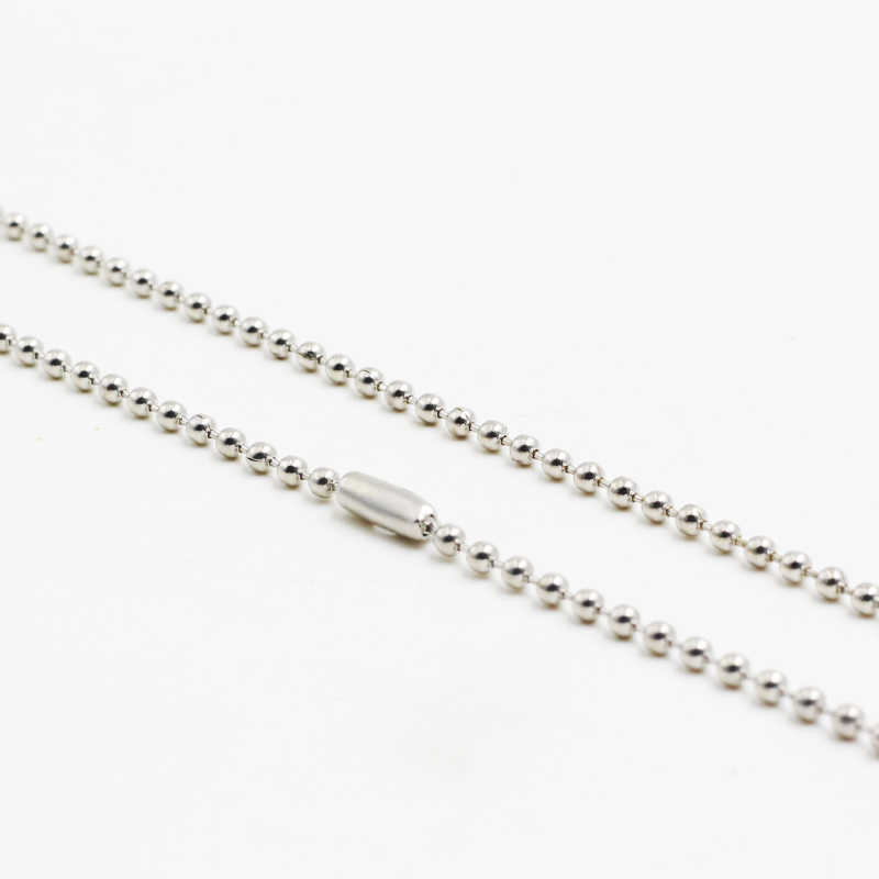 Fashion Silver Ball Bead Necklace High Quality 2mm*60cm Stainless Steel Round Beads Chain Necklaces Men Women Jewelry