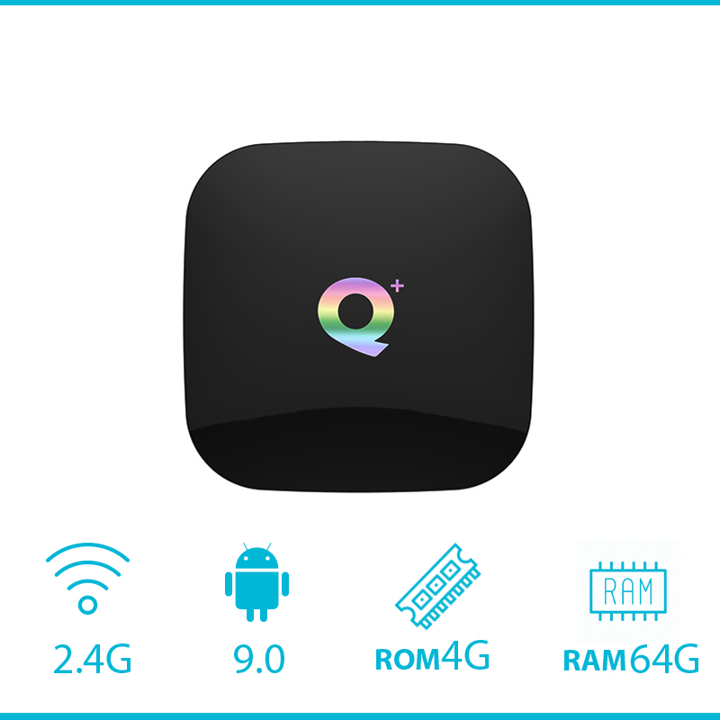 Q Plus Smart TV Box 6 K Android 9 0 TVBox 4 GB di RAM 32