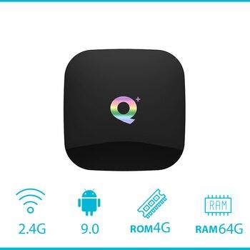 Q плюс Смарт ТВ коробка 6 K Android 9,0 ТВ коробка 4 Гб Оперативная память 32 GB/64 GB Встроенная память Quad core H.265 USB3.0 2,4G Wi-Fi передатчик для интернет-телевидения компьютерной приставки к телевизору PK X96