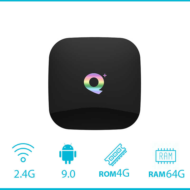 Android 9.0 Q Plus 4G64G Smart TV Box 6K Android 8.1 TVBox 4GB32GB 64GB ROM Quad core H.265 USB3.0 2.4G WiFi  Set-Top Box PK X96