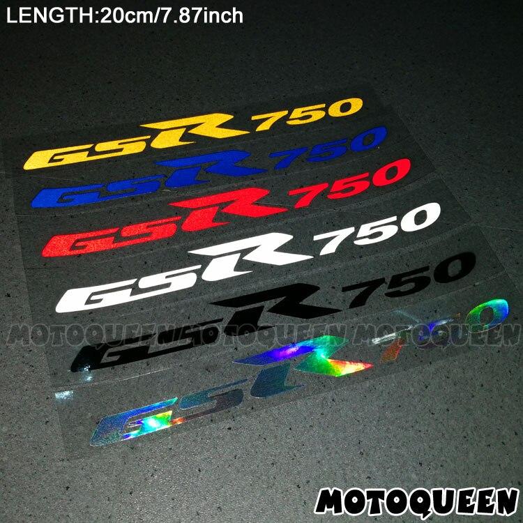 2PCS Reflective Motorcycle Wheels Fairing Helmet Side Tank Pad Decoration Logo Label Stickers Decals For SUZUKI GSR750 GSR 750