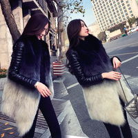 Женская меховая куртка средней длины, модная весенняя и зимняя одежда, 2019 новая Корейская версия свободного кроя, модная жилетка из лисьего