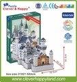 Новый умный и счастливую землю 3d модель головоломка Замок Нойшванштайн взрослого головоломки головоломки diy бумаги подруга подарки для мальчика бумаги