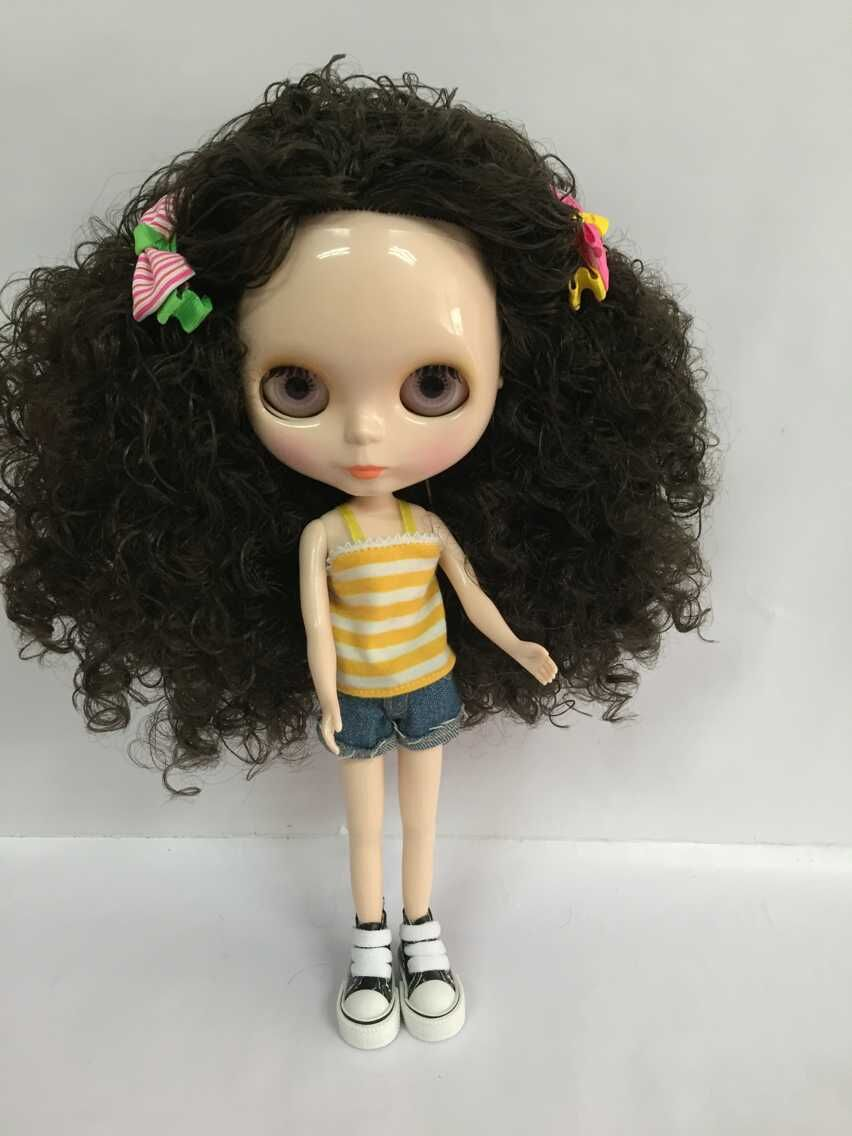 Nude blyth Doll green hair Factory doll Suitable For DIY