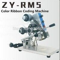 ZY RM5 Renkli Şerit Sıcak BASKI MAKİNESİ Isı yazıcı şeridi film çantası tarih yazıcı manuel kodlama makinesi