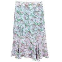 2b 2019 Retro Sen literary elegant temperament loose slim slimming high waist floral long skirt zybba70 cherry
