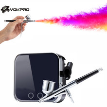0.3mm 7CC Airbrush Kit Compressor Draagbare Touch Machine Lucht Borstel Gebruik Voor Tattoo Body Paint Tool acryl nail kit airbrush(China)