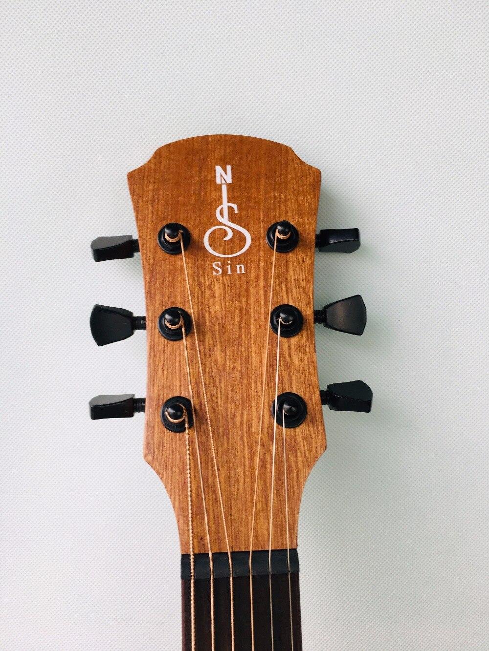 41 pouces guitare acoustique débutant pratique guitare Folk 6 cordes acajou Instrument de musique pour étudiant amoureux cadeau - 5