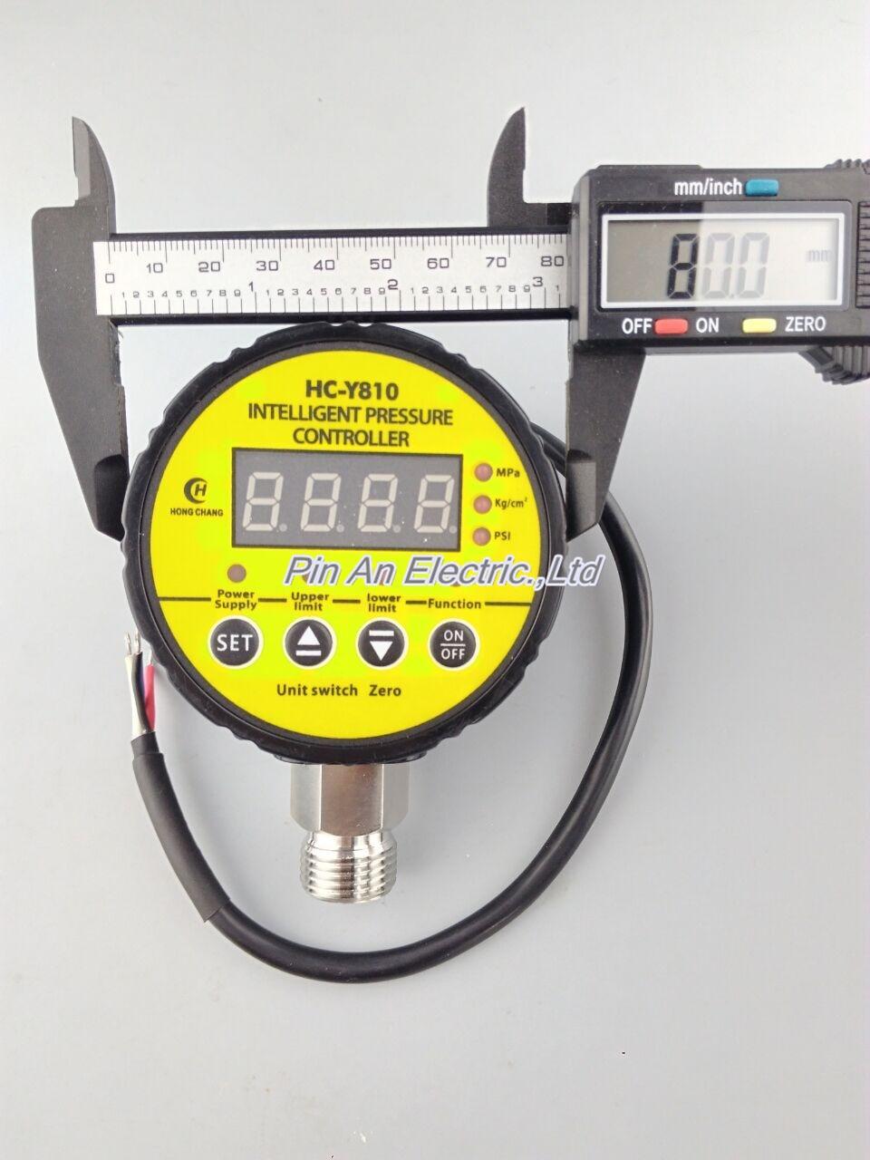 24V DC Hydraulic Air Compressor Digital Pressure Switch 0-10Mpa M20 x 1.5 13mm male thread pressure relief valve for air compressor