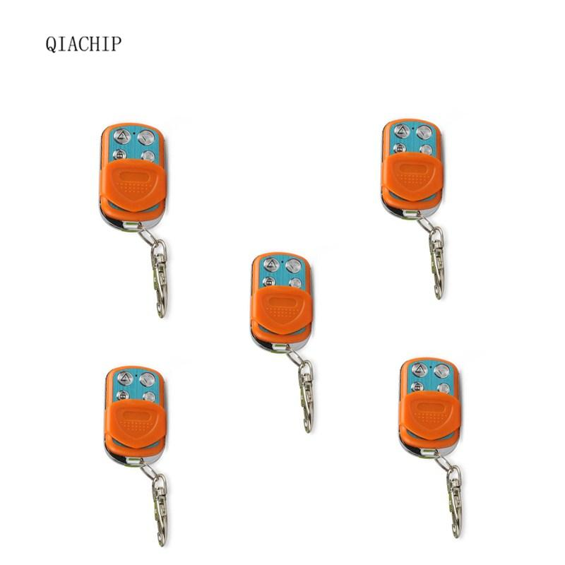QIACHIP 5pcs 433Mhz Copy Duplicator Cloning Wireless Remote Control light switch Transmitter for Garage Door Gate key Fob qiachip mini copy code 868mhz 4ch universal remote control switch cloning duplicator key transmitter for garage door gate opener