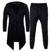Men Set Tracksuit Casual Sweatshirt Male Track Suit Spring Autumn Long Sleeve Cloak Cardigan Hoody Highstreet Cotton Sweatpants
