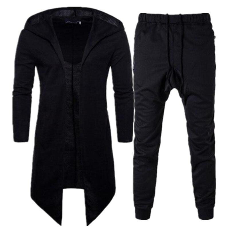 Hommes ensemble survêtement décontracté sweat homme survêtement printemps automne manches longues manteau Cardigan à capuche Highstreet coton pantalons de survêtement