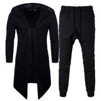 Men Set Tracksuit Casual Sweatshirt Male Track Suit Spring Autumn Long Sleeve Cloak Cardigan Hoody Highstreet Cotton Sweatpants