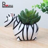 6 Design Modern Cartoon Succulent Cute Plant Pot Resin Creative Handicraft Animals Shape Desktop Decoration Flower