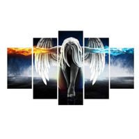 5 Pieces Set Angeles Girls Anime Demons Canvas Painting Children S Room Decoration Print Canvas Pictures
