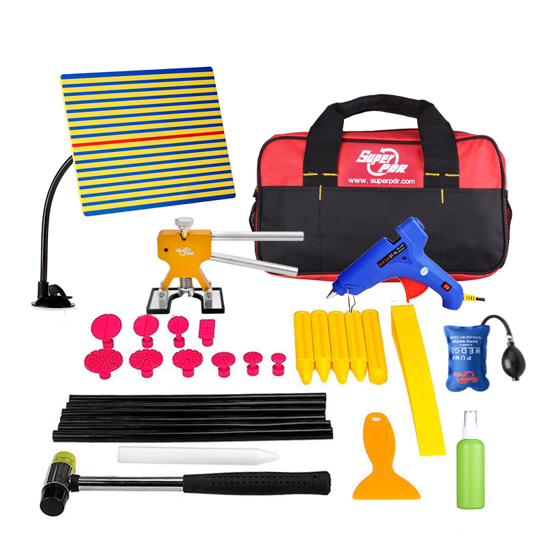 ФОТО PDR Tools Paintless Dent Repair Tools Dent Removal Dent Puller Reflector Board Dent Lifter Puller Tabs Suction Cup Tap Down Tool