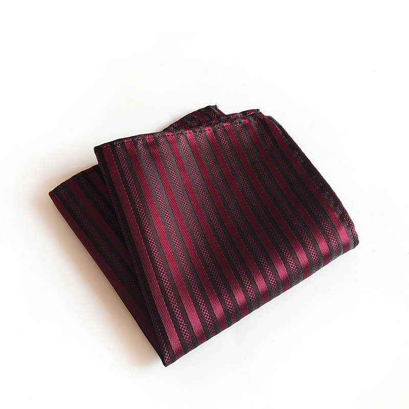Business Handkerchief Striped Plaid Pocket Square Pocket Towel Wedding Hankies Chest Towel For Mens Shirt
