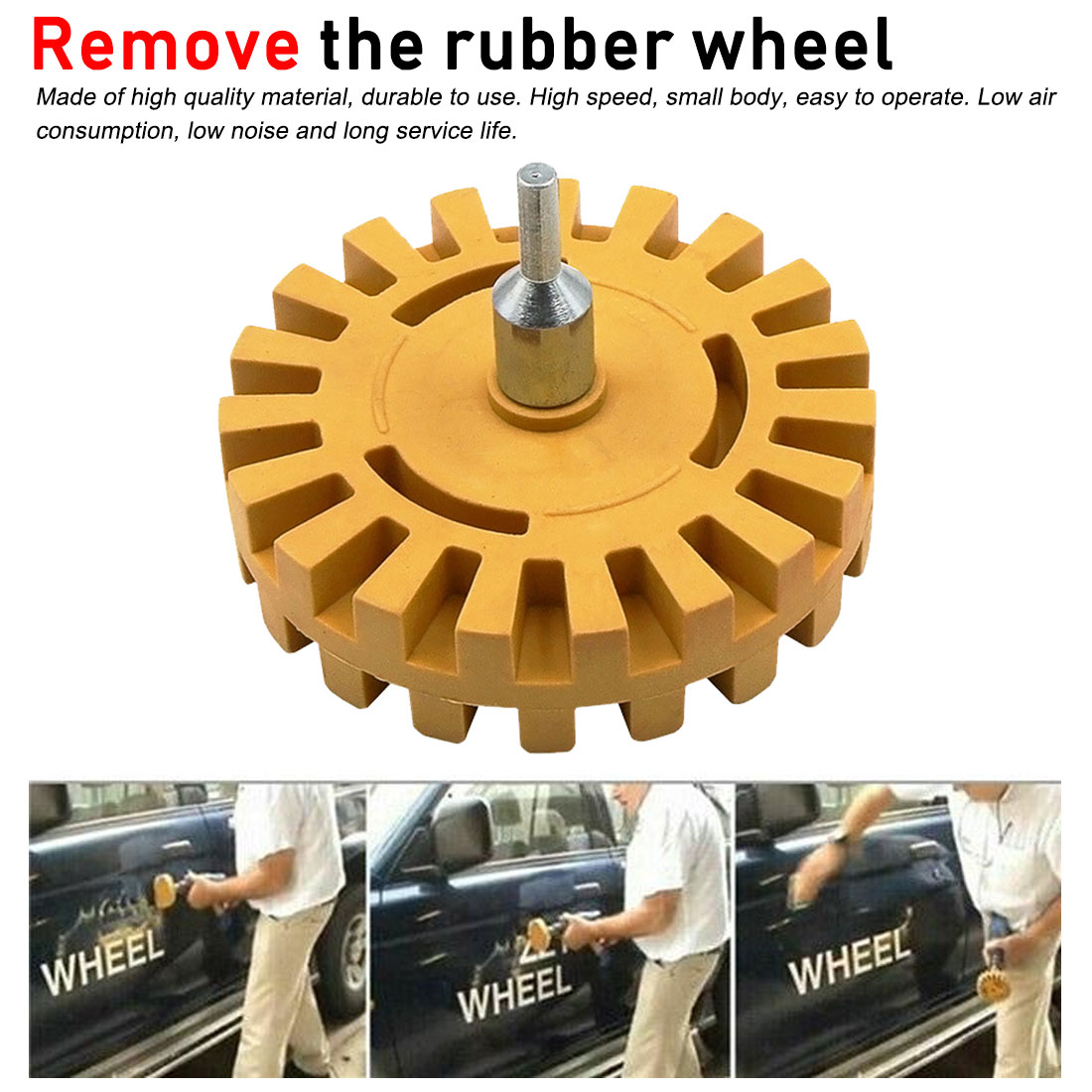 <font><b>Car</b></font> Sticker Remover Tools Quick Polishing Rubber <font><b>Disk</b></font> Pneumatic Polishing <font><b>Wheel</b></font> Decal Remover Rubber Eraser <font><b>Wheel</b></font> image