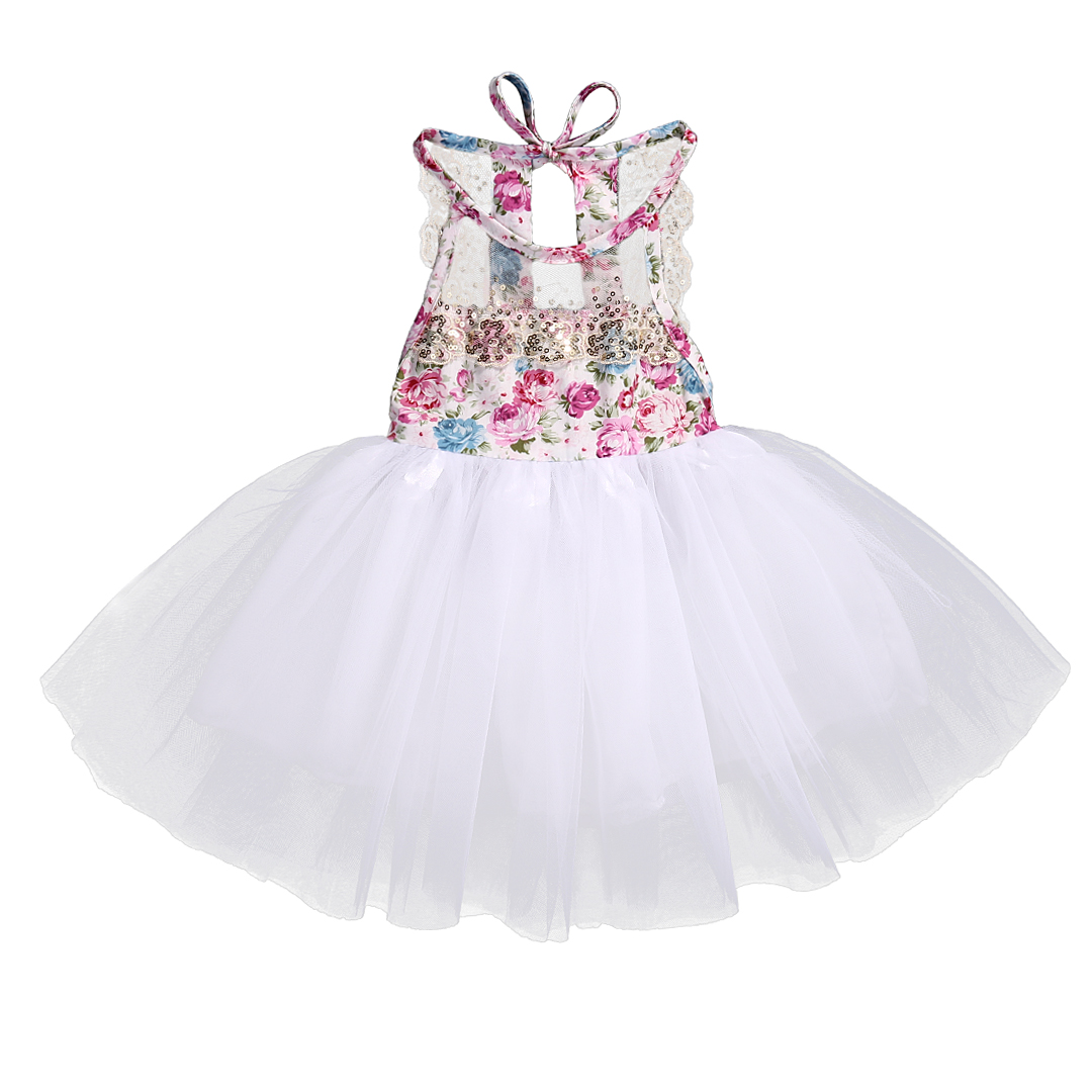 Princess Girls Summer Dress 2017 Floral Lace Tutu Party Dresses Sleeve Ball Gown Baby Girl Vestido Kids Children Clothes 0-3Y 2016 new kids baby girls white chic fairy lace floral party solid gown fancy dresses baby summer casual dress clothes