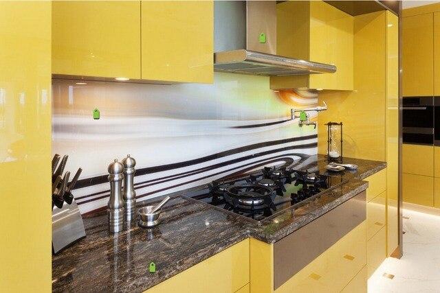 2017 Hot Penjualan 2pac Dapur Pantry Lemari Warna Kuning Modern Gloss Tinggi Lacquer Kitchen Furnitures L1606071
