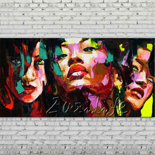 Palette knife portrait Face Oil painting Character figure canva Hand painted Francoise Nielly wall Art picture for living room66