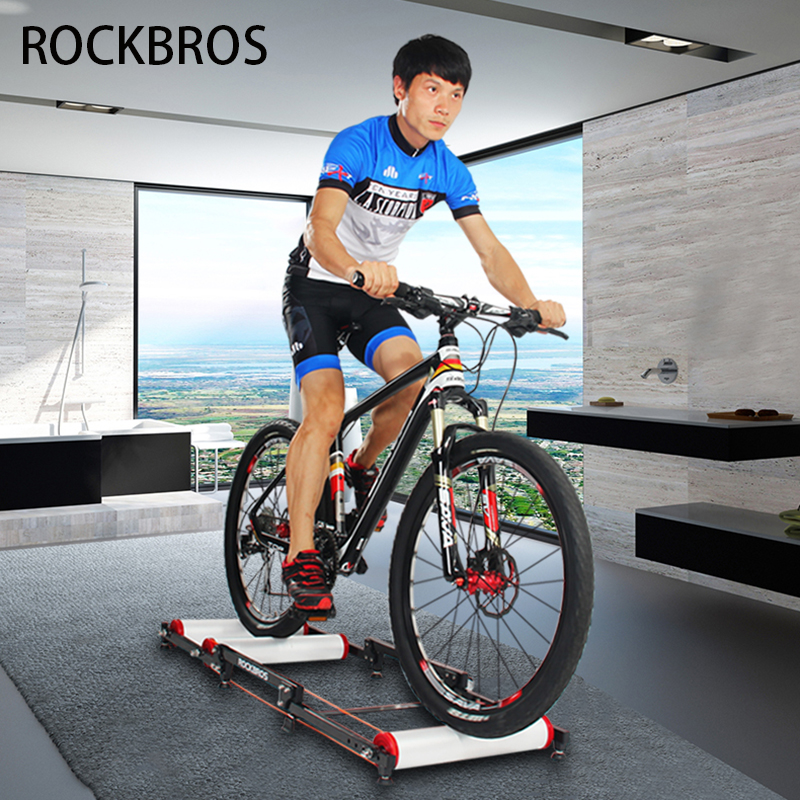 RockBros Indoor Bike Cycling Training Rollers Foldable Parabolic Sports Rollers