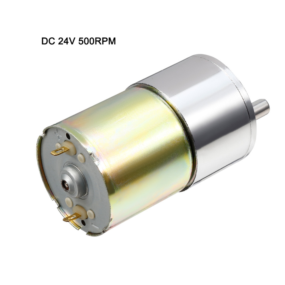 UXCELL DC 24V 500RPM Micro Gear Box Motor Speed Reduction Electric Gearbox Centric Output Shaft цена