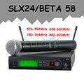 SLX24/BETA58 58A Профессиональный УВЧ Беспроводной Двойной Микрофон микрофон сем fio