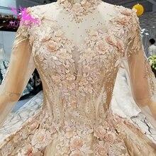 Женские свадебные платья AIJINGYU, кружевное винтажное платье Marvel с бусинами, размеры плюс