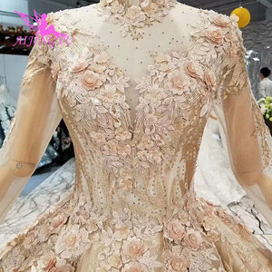 Image 1 - AIJINGYU Womens Wedding Dresses Robe Size Plus Lace Marvel Beads Ready Made Vintage Country Gown Wedding Gowns