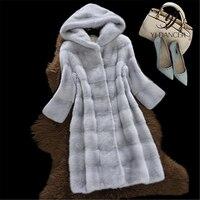 2018 Autumn Winter New Women High Imitation Mink Faux Fur Coats High Quality Coat Temperaments Long Sleeve Parkas Jacket HJB272
