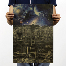 Starry Sky Metaphor Retro Poster