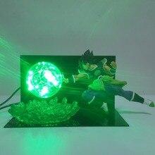 Dragon ball Z Супер конечные солдаты фильм Broly светодио дный светодиодные ночники лампа Dragon Ball Broly светодио дный светодиодное освещение настольная лампа