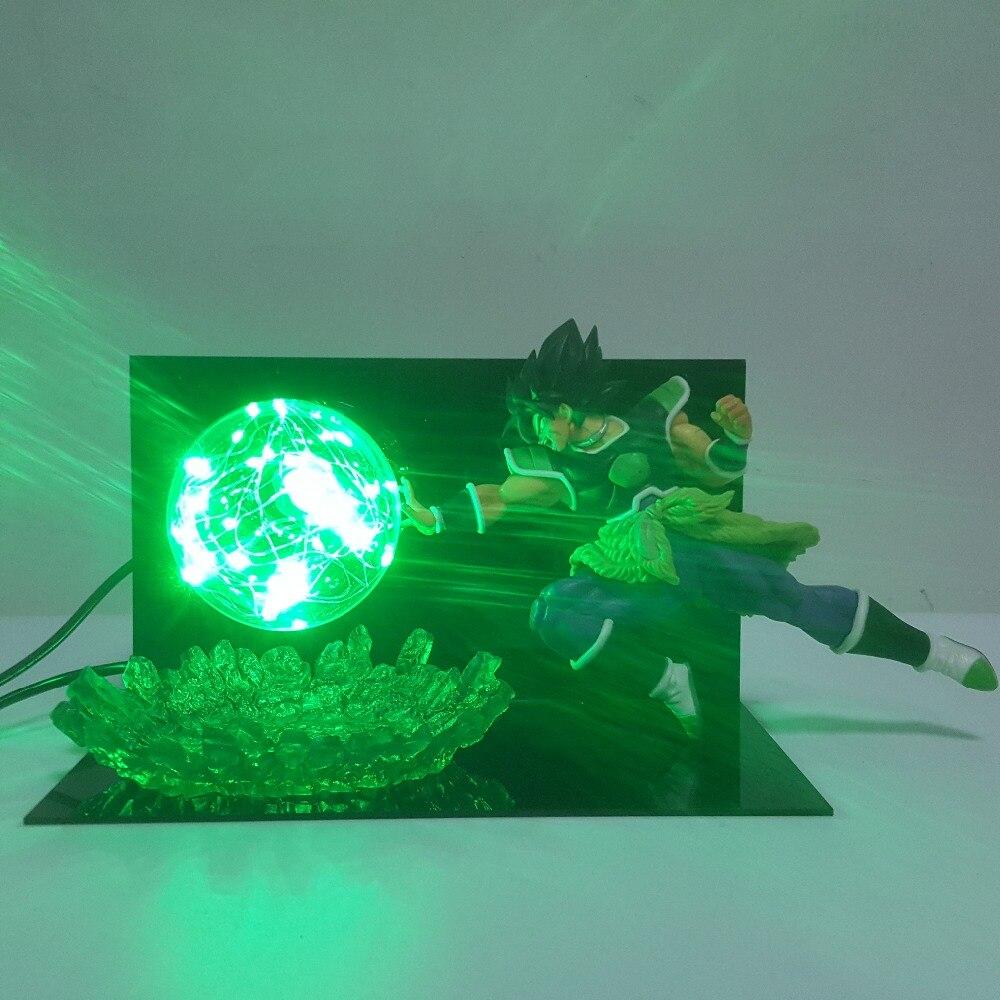 Dragon ball Z Broly Super Soldados Finais Do Filme Led Night Lights Lâmpada Dragão Broly Bola Conduziu a Iluminação da lâmpada de Mesa lâmpada