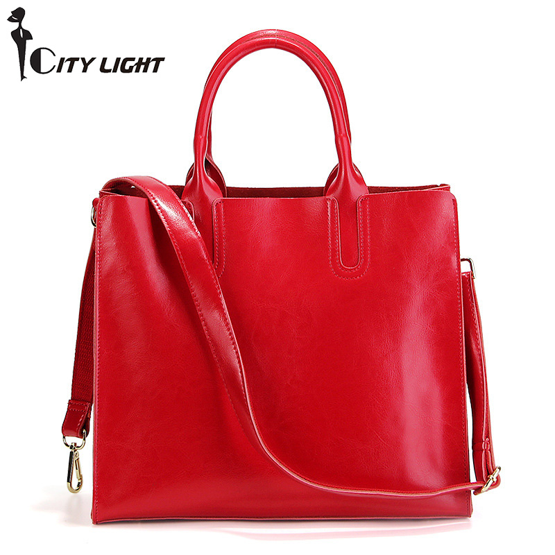 brand women tote bag handbag purse cow leather vintage female shoulder bag ladies large capacity shopping messenger bag