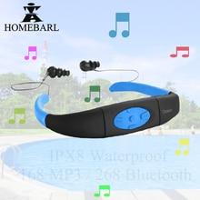 HOMEBARL 168 4GB 8GB IPX8 Professional Waterproof MP3 Player FM Radio Swimming Diving Underwater Sport Swim Device With Earphone