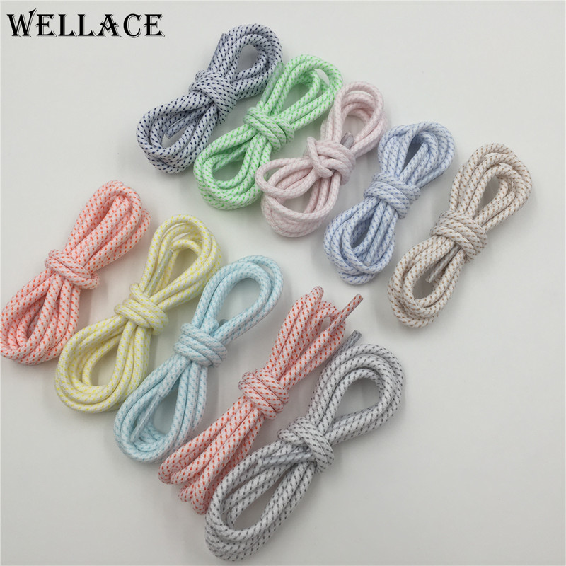 (30pairs/Lot) Wellace 10 Colors Athletic Hiking custom made shoe laces walking boot laces polyester round multi color shoelaces