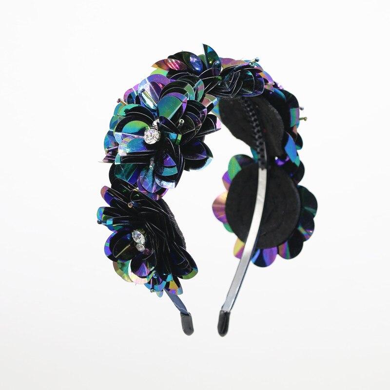 2020 Summer Style Sequence Flower Handmade Flower Full Head Headband Girls Hair Accessories