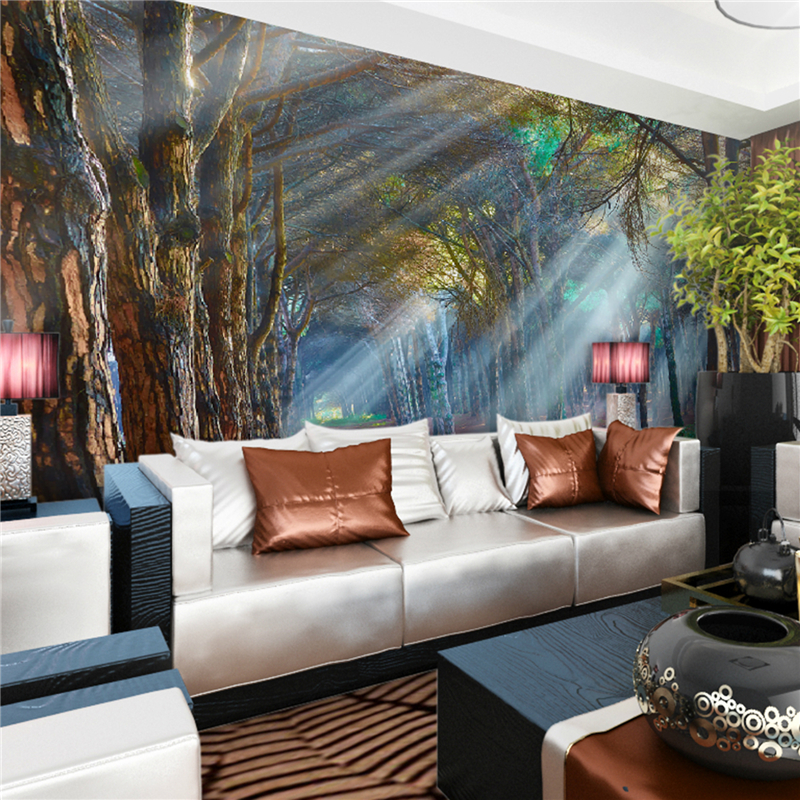 Art Deco Wallpaper Classical Wall Covering,Other A Large Mural Wallpaper Forest Trees wallpaper murals maybelline new york для век color tattoo 24 часа оттенок 35 бронзовый рай 4 мл
