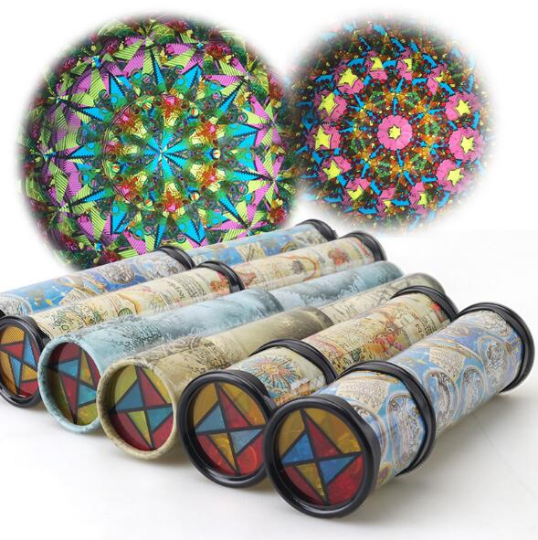 30cm Large Scalable Rotating Kaleidoscopes Extended Rotation Adjustable Fancy Colored Worl