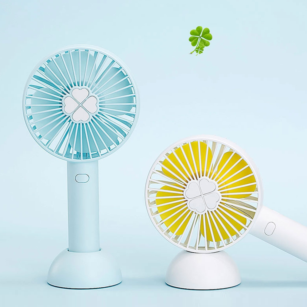 Portable Hand Fan Battery Operated 2000mAh USB Rechargeable Handheld Mini Fan Cooler With Base For Desk Outdoor handheld cartoon mini fan usb portable fan for home outdoor desk rechargeable air conditioner with 1200ma rechargeable battery