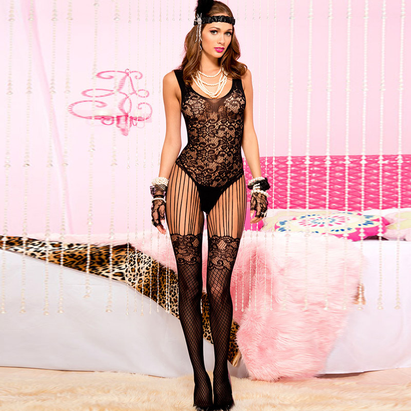Women fishnet stockings sexy tights long socks thigh high pantyhose lingerie